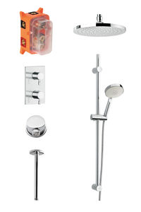 Unterputzarmaturen Hilina SR 2 - UP Thermostat Duschsystem (Chrom/Silber Schlauch)