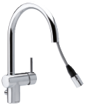 Osier Kitchen mixer with a pull-out spout