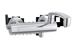 Arc Badkars- och duschblandare (Krom/Svart)
