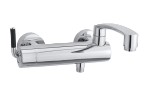 Arc Bath Shower Mixer (Chrome/Black)