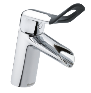 Clover Easy Basin Mixer with pop up waste (Chrome/Black)