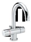 Two-grip danish design basin mixer in chrome.