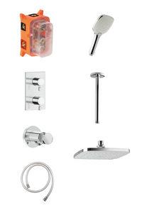 Pine HS2 podtynkowy zestaw prysznicowy termostatyczny (Chrom/srebrny wąż)