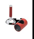 Damixa ARC kappe og greb til køkken- og håndvaskarmaturer i krom/rød
