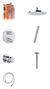 Hilina HS 2 - Complete concealed shower system (Chrome/Silverhose)