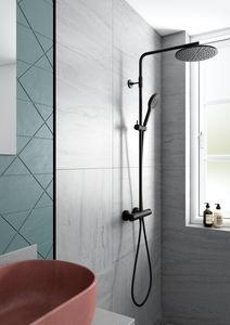 Silhouet Thermostat Duschsystem (Mattschwarz)