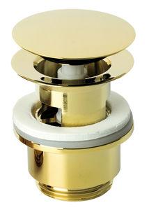 Badezimmer Zubehör Ablaufgarnitur mit Klick-Funktion (Edelmessing PVD)
