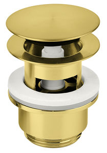Bathroom Accessories Pop Up Waste with click-function (Brushed Brass PVD)