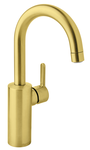Basin mixer with high spout
