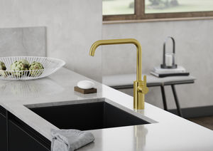 Silhouet Kitchen Mixer (Brushed Brass PVD)