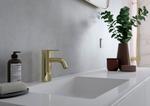 Messing håndvask vandhane fra Damixa Silhouet serien