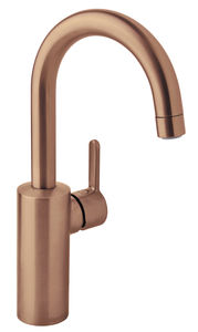 Silhouet Basin mixer with high spout (Brushed Copper PVD)