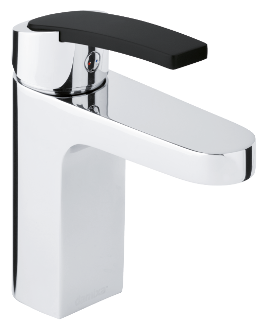 Damixa Slate basin mixer with one-grip in chrome/black