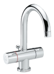 Two-grip danish design basin mixer in chrome.