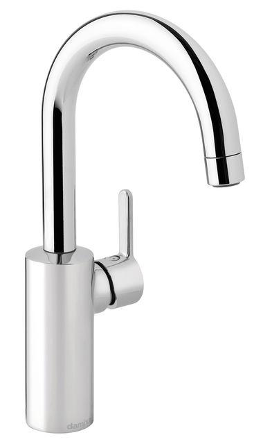 Håndvaskarmatur med høj tud